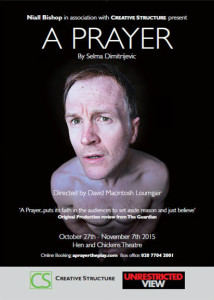 October 27th - November 7th 2015 Hen & Chickens Theatre Bar, Islington